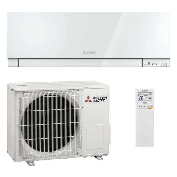 Mitsubishi Klimaanlage R32 Wandgerät Premium MSZ-EF25VGW 2,5 kW I 9000 BTU - Weiß