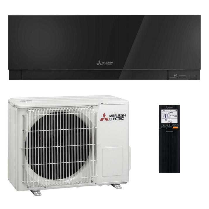 Mitsubishi Klimaanlage R32 Wandgerät Premium MSZ-EF35VGB 3,5 kW I 12000 BTU - Schwarz