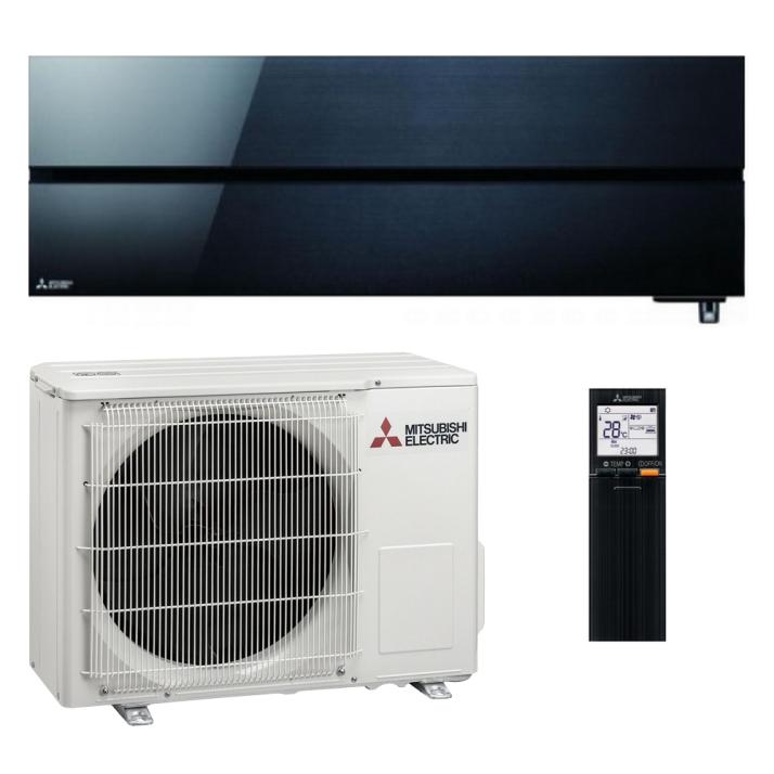 Mitsubishi Klimaanlage R32 Wandgerät Diamond MSZ-LN25VGB 2,5 kW I 9000 BTU - Schwarz