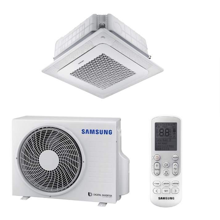 Samsung AC100NN4DKH/EU WIND-FREE Wege-Deckenkassette-Set - 10,0 kW I 230V