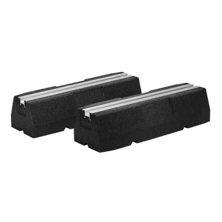 VELOX 2 x Gummi Bodenkonsole PG400 - 400 x 95 x 130 mm - 180 kg