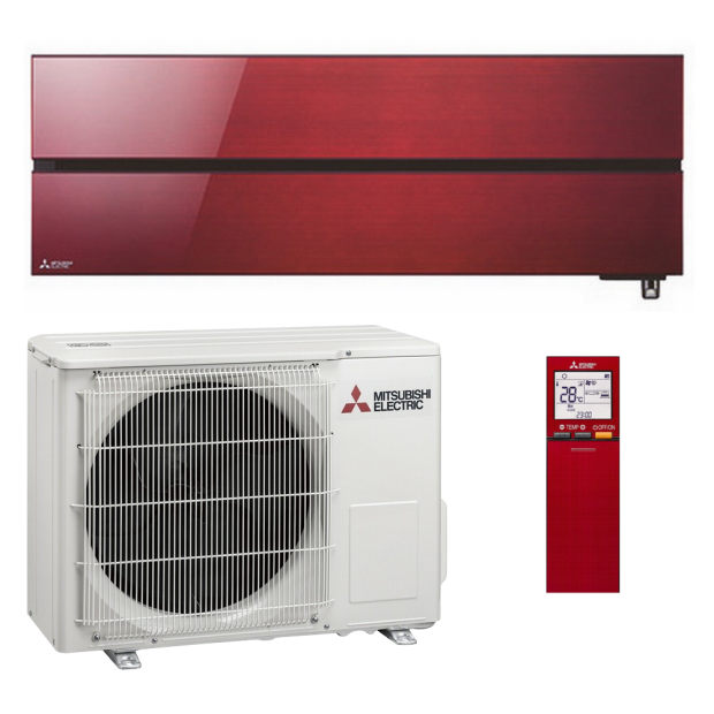 Mitsubishi Klimaanlage R32 Wandgerät Diamond MSZ-LN35VGR 3,5 kW I 12000 BTU - Rot
